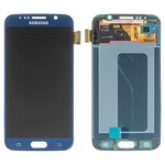 LCD for Samsung G920F Galaxy S6, G920FD Galaxy S6 Duos Cell Phones, (dark blue, with touchscreen, original (change glass) )