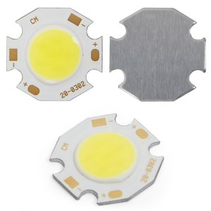 COB LED Chip 3 W (cold white, 250 lm, 300 mA, 9-12 V)