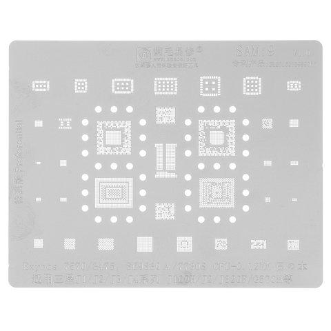 BGA Stencil SAM:9 Samsung J100H/DS Galaxy J1, (SC9830A, SC7730S, Exynos  7570, Exynos 3475, 34 in 1)