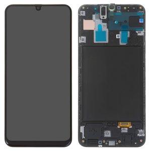 LCD Samsung A305F/DS Galaxy A30, (black, with frame, Original) #GH82-19202A