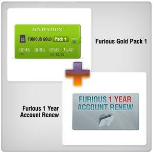 Renovación de acceso al servidor Furious Gold por 1 año  + Furious Gold Pack 1