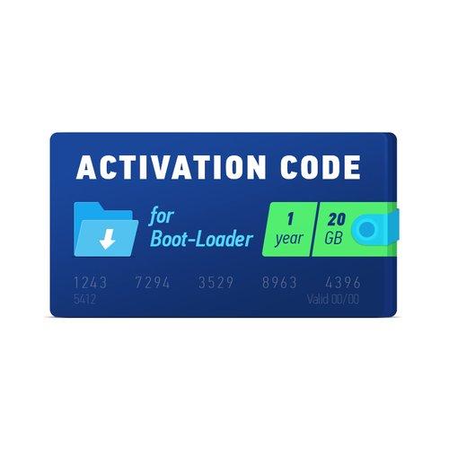 Boot-Loader 2.0 Código de activación (1 año, 20 GB)