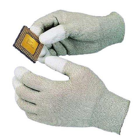Антистатические перчатки с полеуретановыми пальцами Goot WG 3M 65х205мм