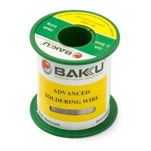 Припій BAKU BK-10005, Sn 97% ,Ag 0.3%, Cu 0.7%, Flux 2%, 0.5 мм, 100 г