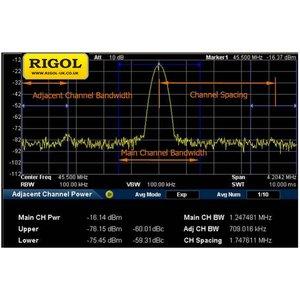 Програмне розширення для вимірювання ACPR, OBW, CP, TDP RIGOL AMK-DSA800