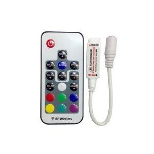 Контроллер с беспроводным пультом HTL-048 (мини, RGB, 5050, 3528, 144 Вт)