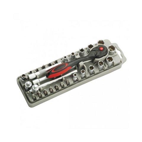 Набор насадок Pro'sKit SD 2308M с трещоткой и длинногубцами