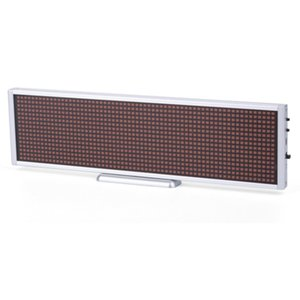 Pantalla LED publicitaria P5 (660 × 94 mm, 112 × 14 dots)