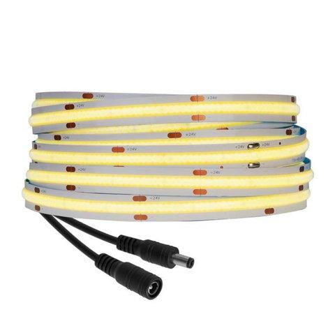 COB LED Strip Light 480 LEDs, RA90 Natural White, DC 24V, 5 m